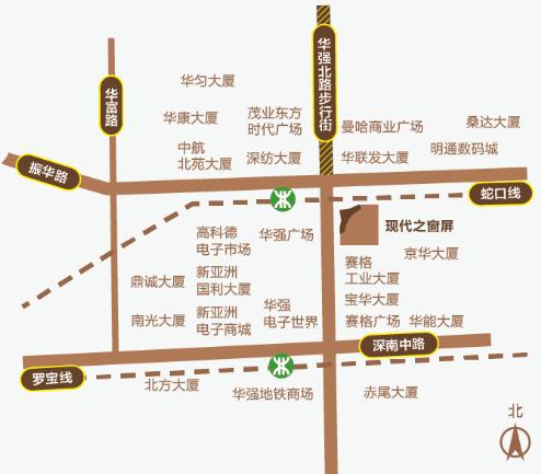 深圳户外LED广告华强北赛博数码广场屏位置