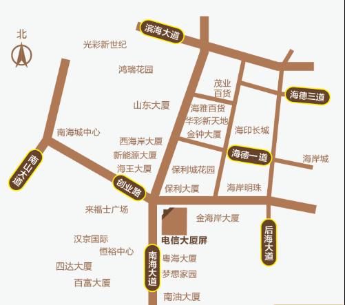 深圳户外LED广告南山商圈电信大厦屏位置