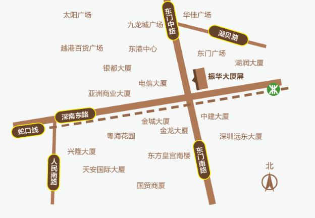 深圳户外led广告深南大道东门振华大厦屏位置