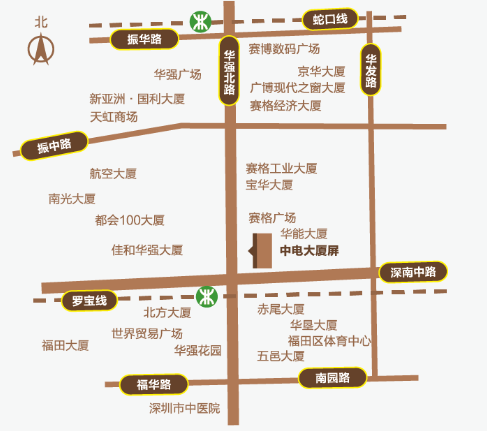深圳户外led广告屏深南大道中电大厦屏位置