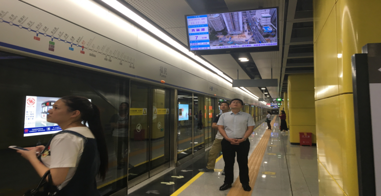 深圳地铁电视广告 站台候车屏